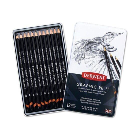 Derwent Graphic Pencil Tin Set of 12